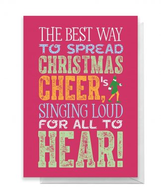 Elf Christmas Cheer Greetings Card - Large Card chez Casa Décoration
