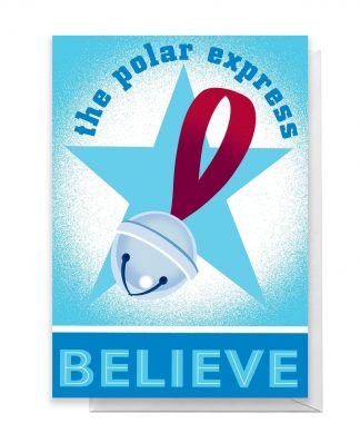 The Polar Express Believe Greetings Card - Large Card chez Casa Décoration