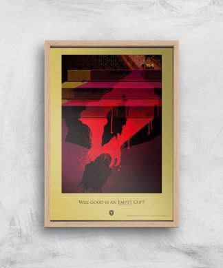 Game of Thrones Empty Cup Affiche Artistique - A4 - Wooden Frame chez Casa Décoration