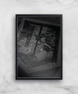 Justice League Logo Poster Giclee Art Print - A3 - Black Frame chez Casa Décoration