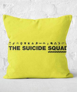 Suicide Squad Square Cushion - 60x60cm - Soft Touch chez Casa Décoration