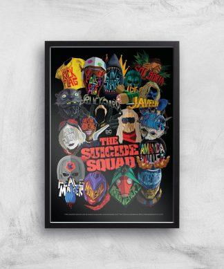 Suicide Squad Poster Giclee Art Print - A3 - Black Frame chez Casa Décoration