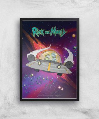 Rick and Morty Rocket Adventure Giclee Art Print - A4 - Black Frame chez Casa Décoration