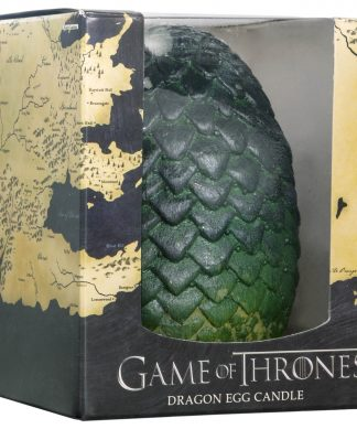 Game of Thrones Sculpted Candle Egg - Green chez Casa Décoration