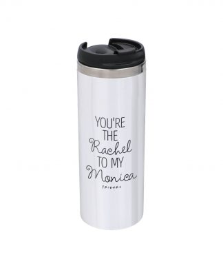 Friends You're The Rachel To My Monica Stainless Steel Thermo Travel Mug - Metallic Finish chez Casa Décoration