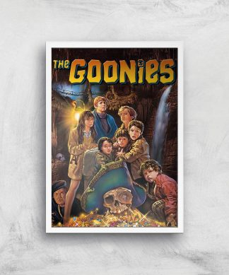 The Goonies Classic Cover Giclee Art Print - A4 - White Frame chez Casa Décoration