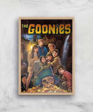 The Goonies Classic Cover Giclee Art Print - A3 - Wooden Frame chez Casa Décoration