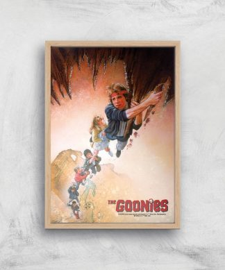The Goonies Retro Poster Giclee Art Print - A4 - Wooden Frame chez Casa Décoration