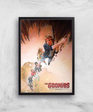 The Goonies Retro Poster Giclee Art Print - A2 - Black Frame chez Casa Décoration