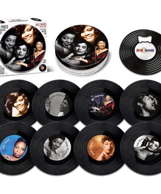 Jazz Divas 8 Pieces Coaster Tin Set chez Casa Décoration