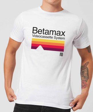 Betamax Cassette System Men's T-Shirt - White - XS chez Casa Décoration
