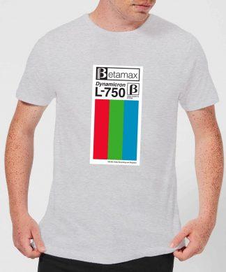 Betamax Label Men's T-Shirt - Grey - XS chez Casa Décoration