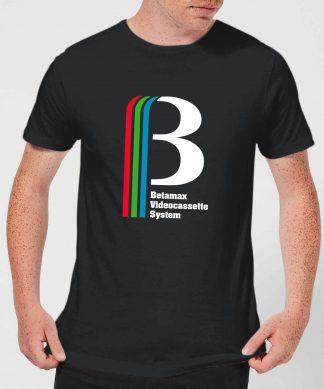 Betamax Logo Men's T-Shirt - Black - XS chez Casa Décoration