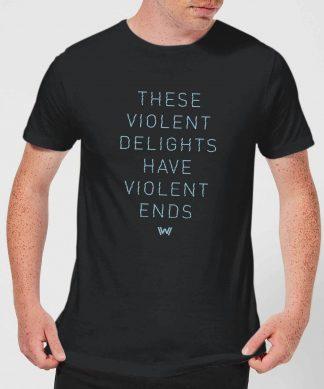 Westworld Violent Delights Men's T-Shirt - Black - XS - Noir chez Casa Décoration