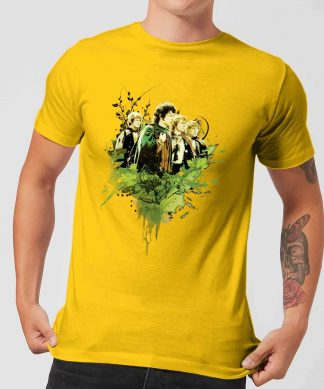 The Lord Of The Rings Hobbits Men's T-Shirt - Yellow - XS - Citron chez Casa Décoration