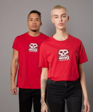 T-shirt Borderlands 3 Skull Logo - Rouge - Unisexe - XS - Rouge chez Casa Décoration
