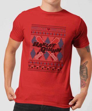 Harley Quinn Men's Christmas T-Shirt - Red - XS - Rouge chez Casa Décoration
