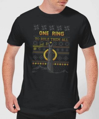 The Lord Of The Rings One Ring Men's Christmas T-Shirt in Black - XS chez Casa Décoration