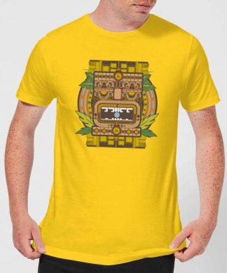 Crystal Maze Aztec Idol Men's T-Shirt - Yellow - XS - Citron chez Casa Décoration
