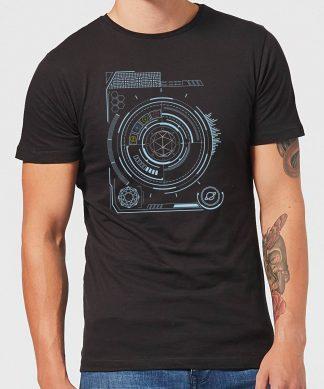 Crystal Maze Futuristic Crystal Men's T-Shirt - Black - XS - Noir chez Casa Décoration