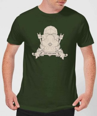 Crystal Maze Fast And Safe Crest Men's T-Shirt - Forest Green - XS - Forest Green chez Casa Décoration