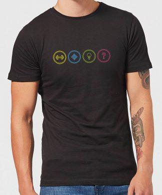 Crystal Maze Game Modes Men's T-Shirt - Black - XS - Noir chez Casa Décoration