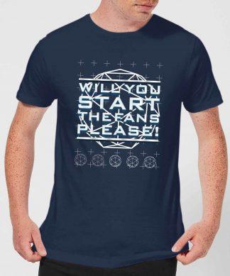 Crystal Maze Will You Start The Fans Please! Men's T-Shirt - Navy - XS - Navy chez Casa Décoration