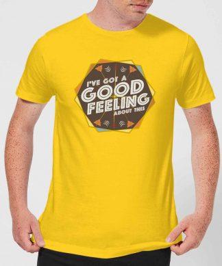Crystal Maze I've Got A Good Feeling About This- Aztec Men's T-Shirt - Yellow - XS - Citron chez Casa Décoration