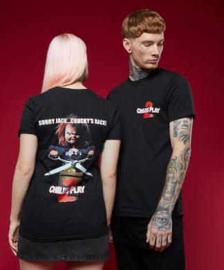 T-shirt Chucky la poupée de sang - Noir - XS chez Casa Décoration