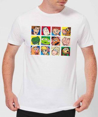 Disney Toy Story Face Collage Men's T-Shirt - White - XS - Blanc chez Casa Décoration