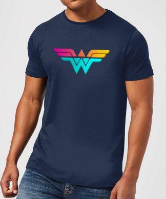 Justice League Neon Wonder Woman Men's T-Shirt - Navy - XS - Navy chez Casa Décoration