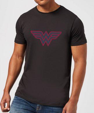 Justice League Wonder Woman Retro Grid Logo Men's T-Shirt - Black - XS - Noir chez Casa Décoration