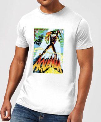 Justice League Aquaman Cover Men's T-Shirt - White - XS - Blanc chez Casa Décoration