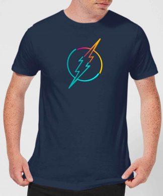 Justice League Neon Flash Men's T-Shirt - Navy - XS chez Casa Décoration