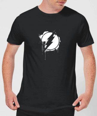 Justice League Graffiti The Flash Men's T-Shirt - Black - XS chez Casa Décoration