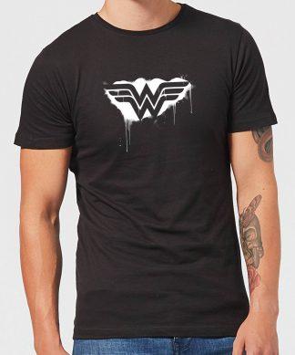 Justice League Graffiti Wonder Woman Men's T-Shirt - Black - XS - Noir chez Casa Décoration