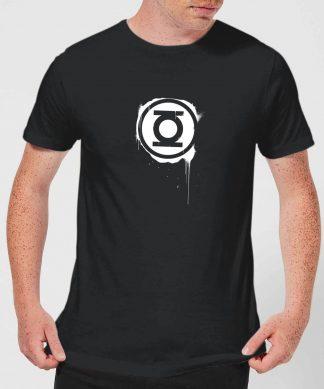 Justice League Graffiti Green Lantern Men's T-Shirt - Black - XS - Noir chez Casa Décoration