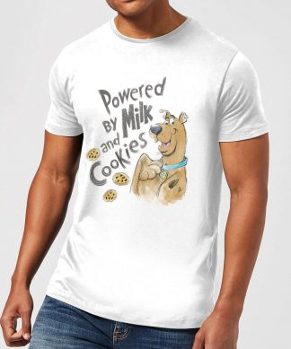 Scooby Doo Powered By Milk And Cookies Men's T-Shirt - White - XS chez Casa Décoration