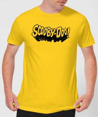 Scooby Doo Retro Mono Logo Men's T-Shirt - Yellow - XS - Citron chez Casa Décoration