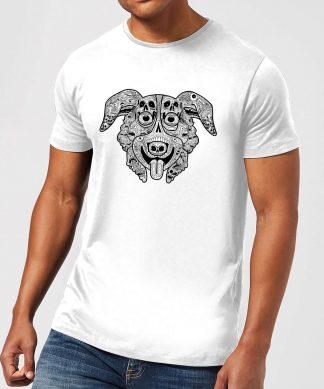 Mr Pickles Pattern Face Men's T-Shirt - White - XS - Blanc chez Casa Décoration