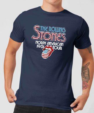 Rolling Stones 81 Tour Logo Men's T-Shirt - Navy - XS chez Casa Décoration