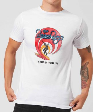 The Beach Boys Surfer 83 Men's T-Shirt - White - XS chez Casa Décoration