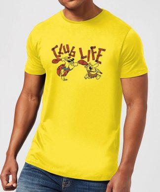 The Flintstones Club Life Men's T-Shirt - Yellow - XS - Citron chez Casa Décoration