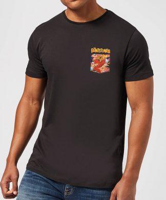 The Flintstones Pocket Pattern Men's T-Shirt - Black - XS - Noir chez Casa Décoration
