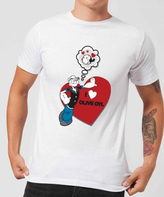 Popeye I Love Olive Oyl Men's T-Shirt - White - XS - Blanc chez Casa Décoration