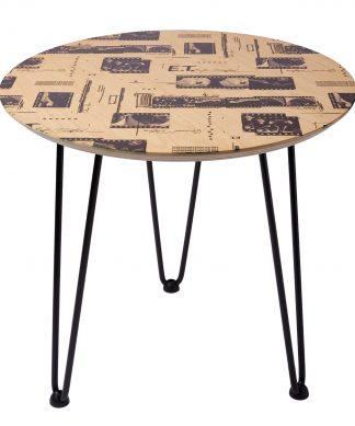 Decorsome x E.T. Wooden Side Table - Rose gold chez Casa Décoration