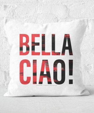 La Casa de Papel Bella Ciao Coussin Carré - 60x60cm - Soft Touch chez Casa Décoration