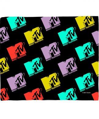 MTV Logo Pattern Bed Throw chez Casa Décoration
