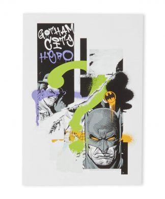 Batman Torn Impression d'art Giclée - A4 - Black Frame chez Casa Décoration