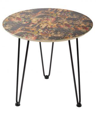 Decorsome x Batman Collage Table d'appoint en bois - Blanc chez Casa Décoration